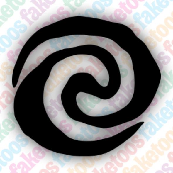 MOANA SWIRL Glitter Tattoo Stencils (x6) by Faketoos