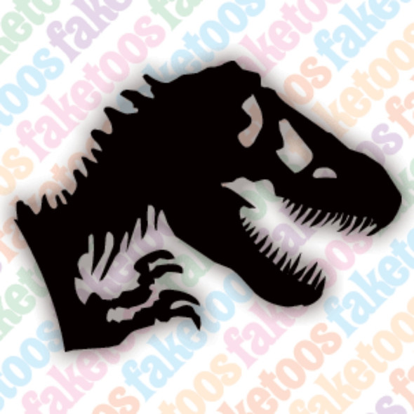 JURASSIC Glitter Tattoo Stencils (x6) by Faketoos