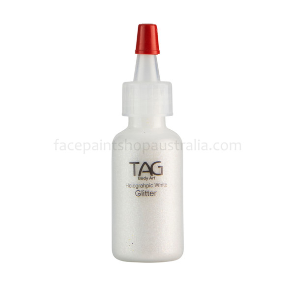 HOLOGRAPHIC WHITE Cosmetic Glitter Dust by Tag Body Art