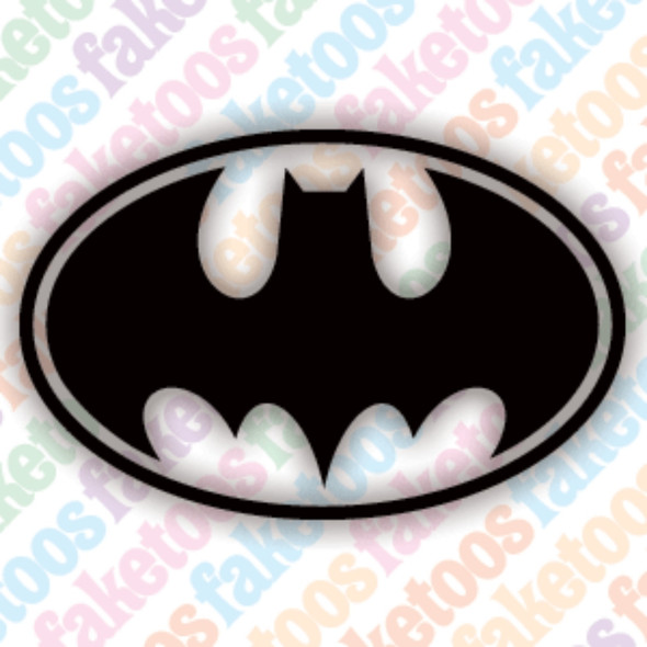BATMAN #1 Glitter Tattoo Stencils (x6) by Faketoos