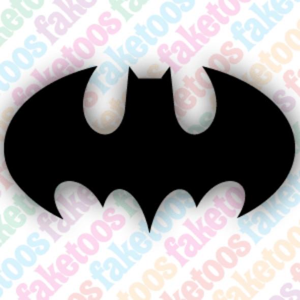 BATMAN #2 Glitter Tattoo Stencils (x6) by Faketoos