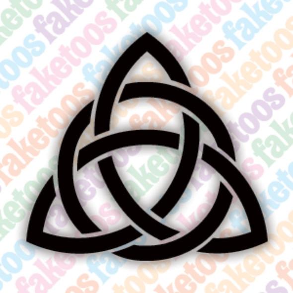 CELTIC TRINITY KNOT Glitter Tattoo Stencils (x6) by Faketoos