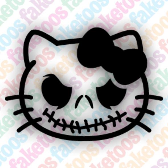 HELLO KITTY JACK S Glitter Tattoo Stencils (x6) by Faketoos