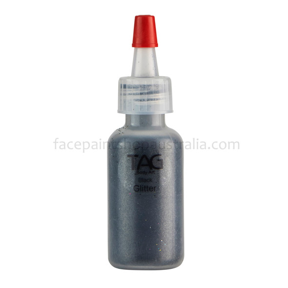 BLACK Cosmetic Glitter Dust (loose) by Tag Body Art