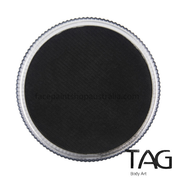 BLACK Face and Body Paint 90g by TAG Body Art