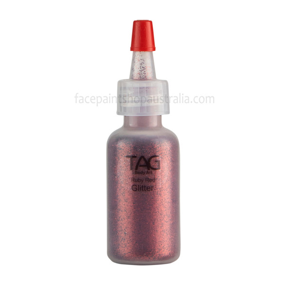 RUBY RED Cosmetic Glitter Dust by Tag Body Art