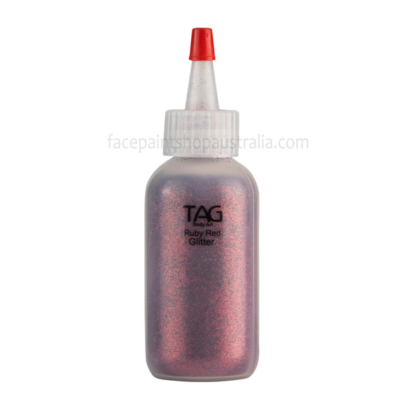 RUBY RED Cosmetic Glitter Dust (loose) by Tag Body Art