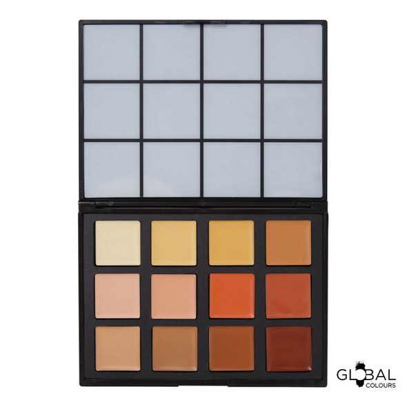 Coverup FX – 12 Colour Face & BodyArt Palette Global Colours
