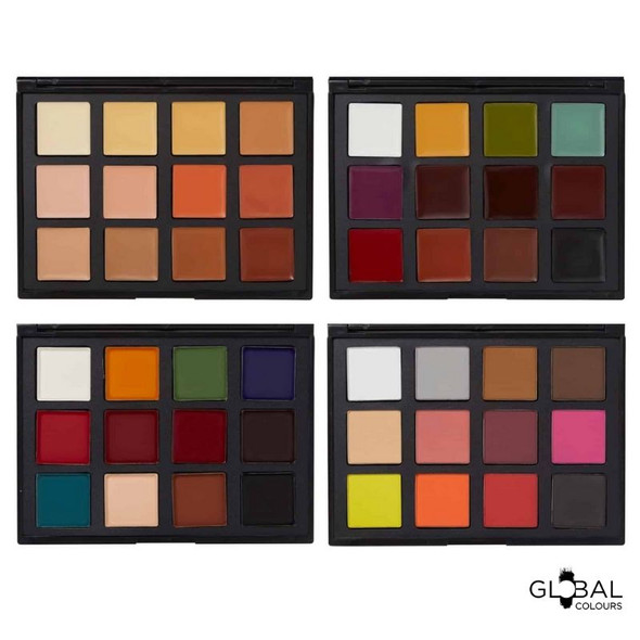 Library FX (Coverup, Cream, Ink, & Optillusions FX) – 48 Colour Face & BodyArt Palette