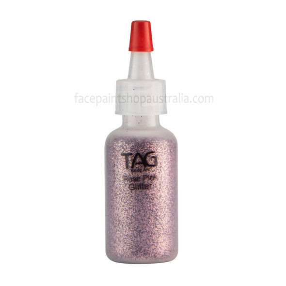 ROSE PINK Cosmetic Glitter Dust by Tag Body Art