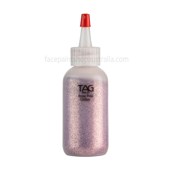 ROSE PINK Cosmetic Glitter Dust (loose) by Tag Body Art