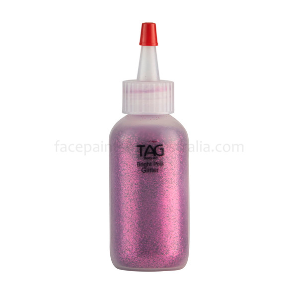 BRIGHT PINK Cosmetic Glitter Dust by Tag Body Art