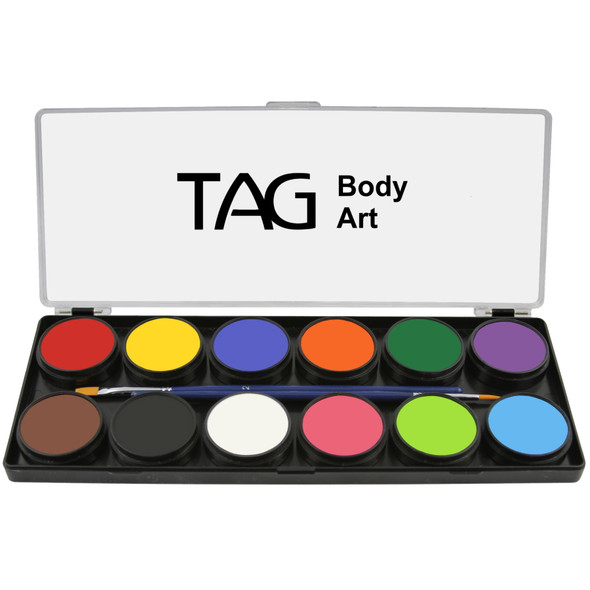 TAG face and body paint regular palette  10g x 12 colours