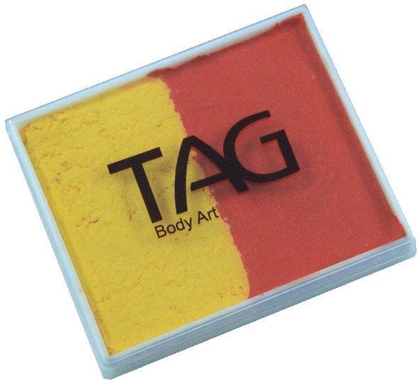 ORANGE-YELLOW face paint split cake by TAG Body Art [regular] 50g