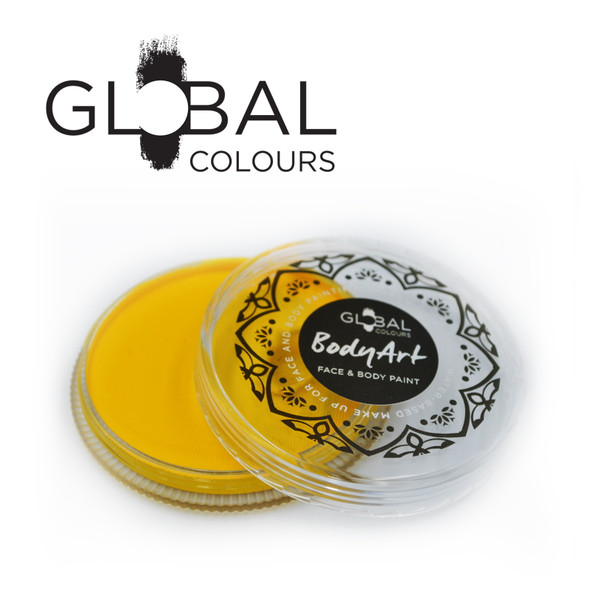 YELLOW Face and Body Paint Makeup by Global Colours 32g