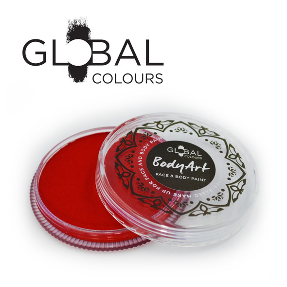 RED Face and Body Paint Makeup by Global Colours 32g