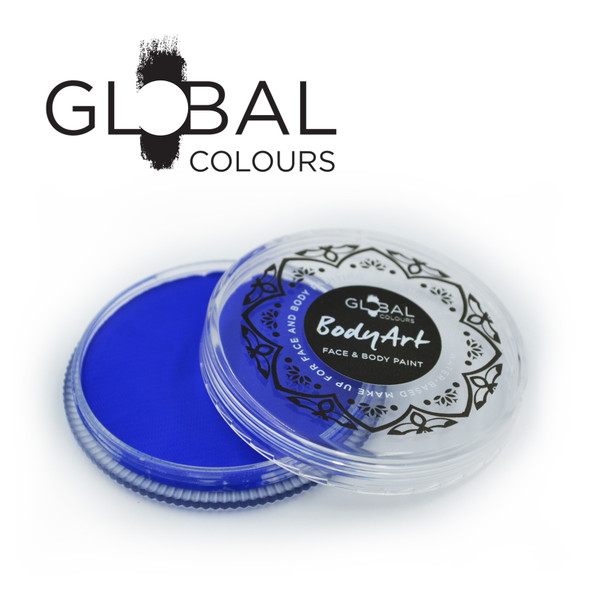 ULTRA BLUE Face and Body Paint Makeup by Global Colours 32g