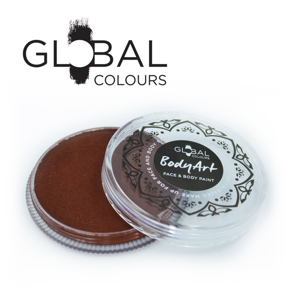 ROSE BROWN Face and Body Paint Makeup by Global Colours 32g
