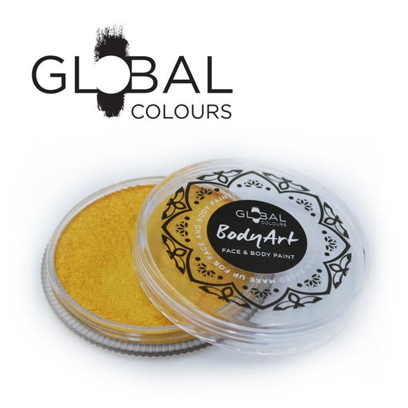METALLIC GOLD Face and Body Paint Makeup by Global Colours 32g