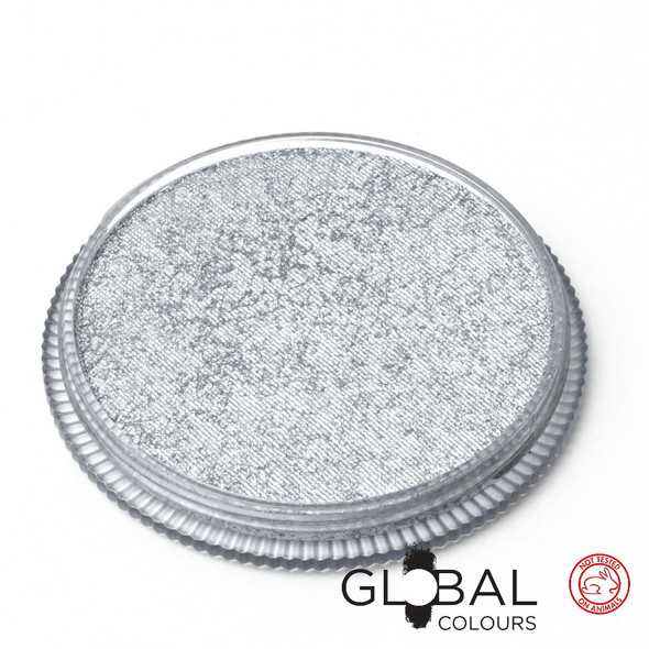 METALLIC SILVER by Global Colours MakeUp 32g *New Formula*