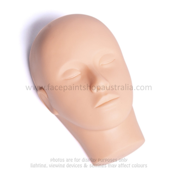 Washable, durable silicon face paint practice head mannequin