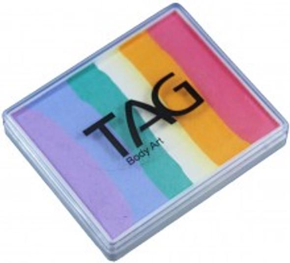 TAG bodyart rainbow face paint cake 50g fairy floss available now at Face Paint Shop Australia