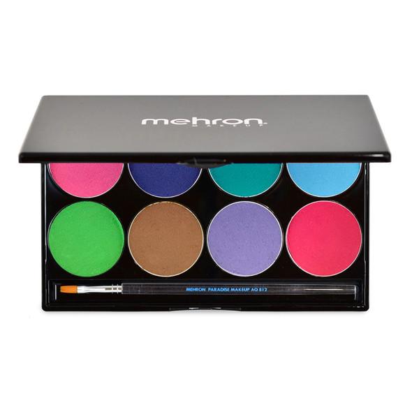 Mehron Paradise Makeup AQ™ palette of 8 'Pastel' available from Face Paint Shop Australia