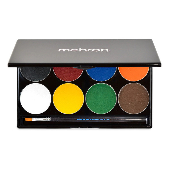 Mehron Paradise Makeup AQ™ palette of 8 'basic' available from Face Paint Shop Australia