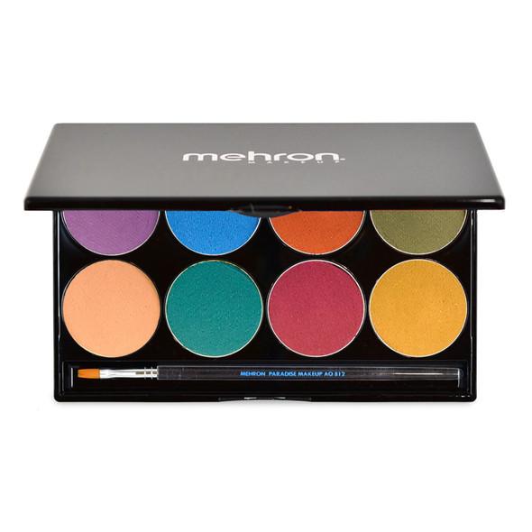 Mehron Paradise Makeup AQ™ palette of 8 'NUANCE' available from Face Paint Shop Australia