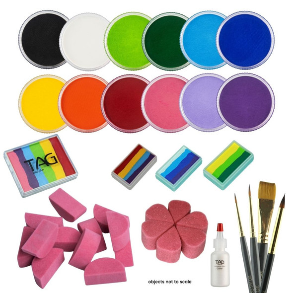 PRO face paint starter kit - everything you need to get started in a face painting business TAG Body Art Australia