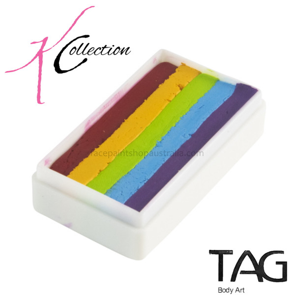PRIDE one stroke rainbow cake custom made by TAG  for Kate's Collection