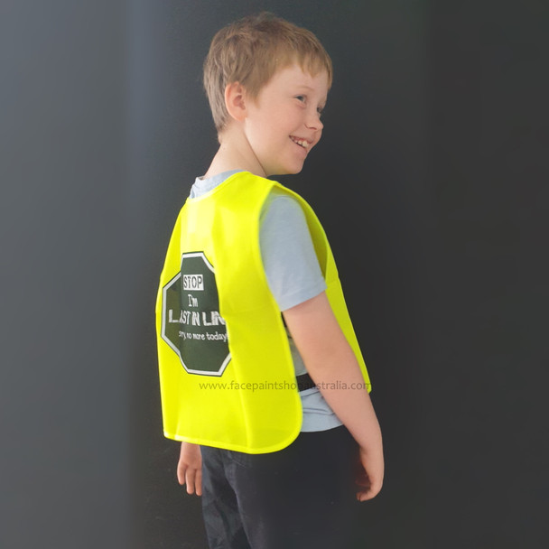 LAST IN LINE VEST - CHILD-SIZE fluoro yellow