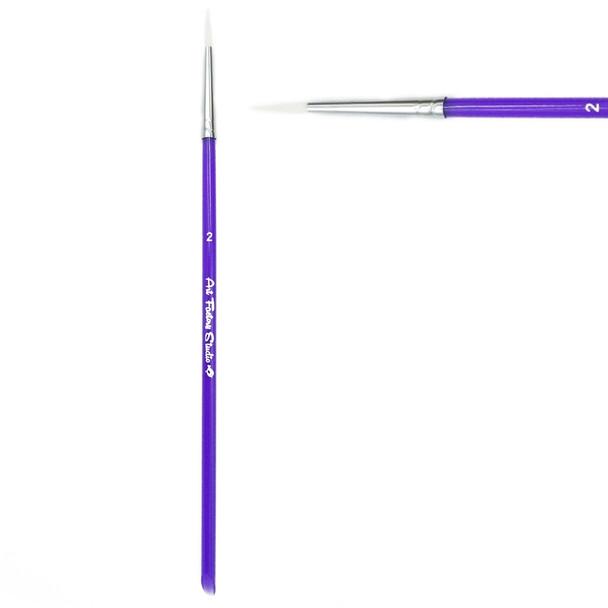 ROUND BRUSH SIZE 2 - Acrylic Handle face paint brush by Art Factory