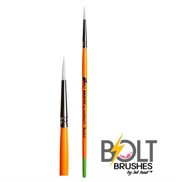 BOLT FIRM THIN Round #3 Face Painting Brush by Jest Paint