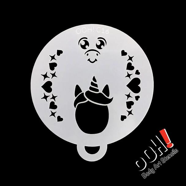 Baby Unicorn Stencil by Ooh! Stencils C16
