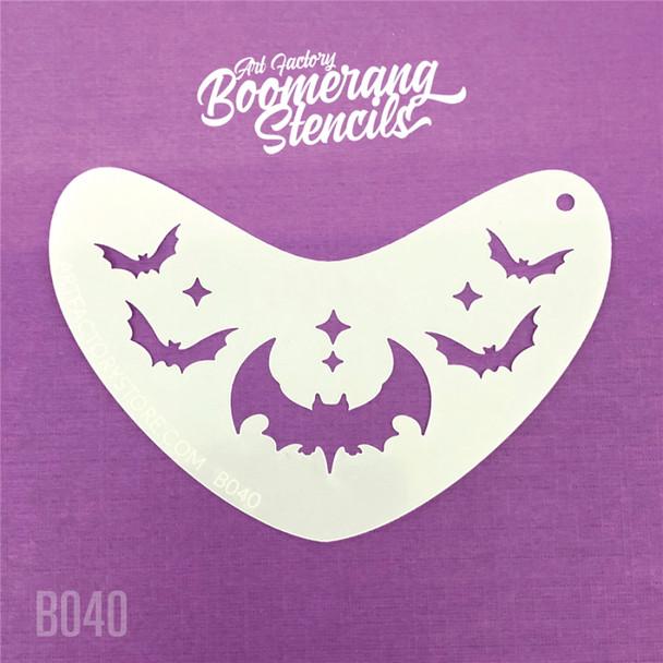 BAT CROWN by Boomerang Face Painting Stencil [B040]