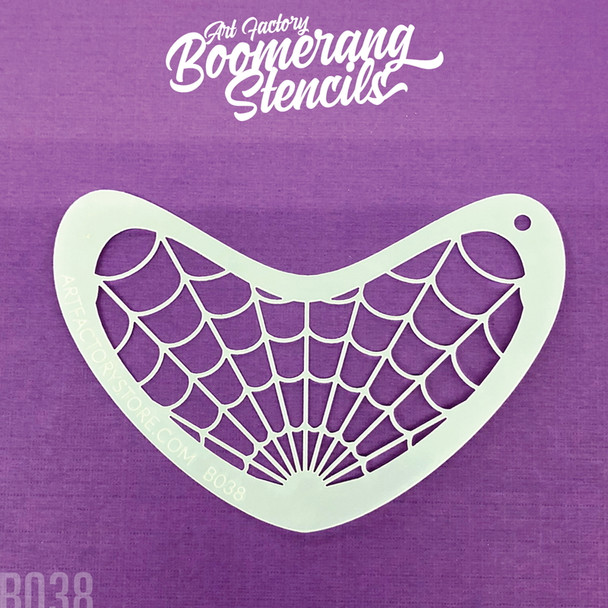 SPIDER WEB by Boomerang Face Painting Stencil [B038]