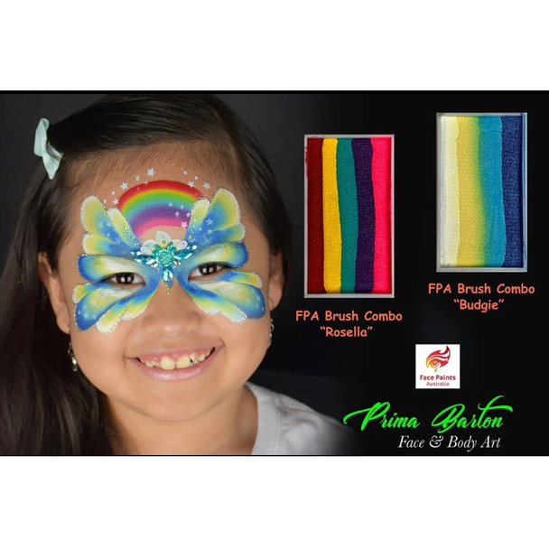 BUDGIE (Prima Barton Series) brush combo cake 28g by Face Paints Australia