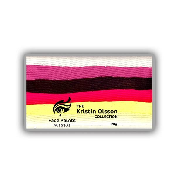 DAYBREAK ROSE (Kristin Olsson Duo Stroke) brush combo cake 28g by Face Paints Australia