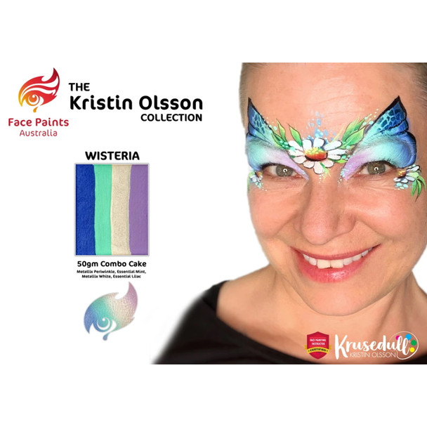 WISTERIA (Kristin Olsson Collection ) Combo Cake 50g by Face Paints Australia