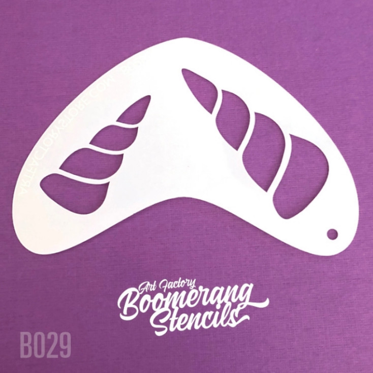 UNICORN HORN by Boomerang Face Painting Stencil