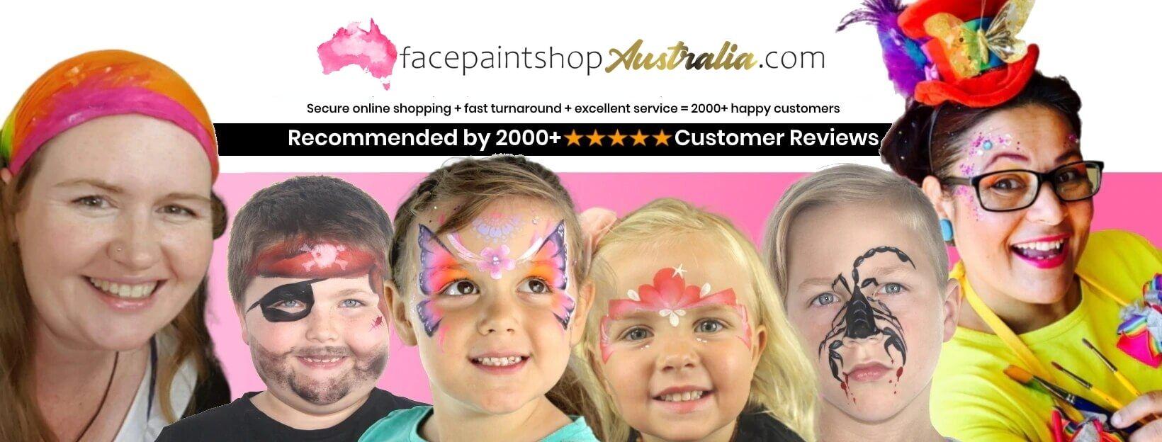 face paint shop australia home page banner