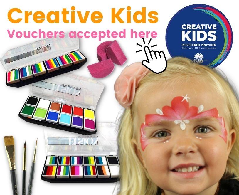 NSW Creative Kids vouchers for face paint kits