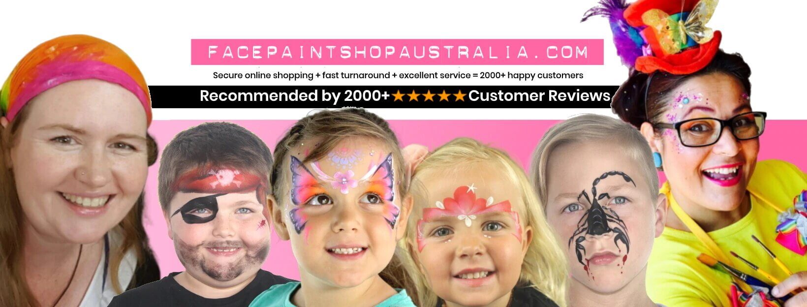 face paint shop australia home page banner