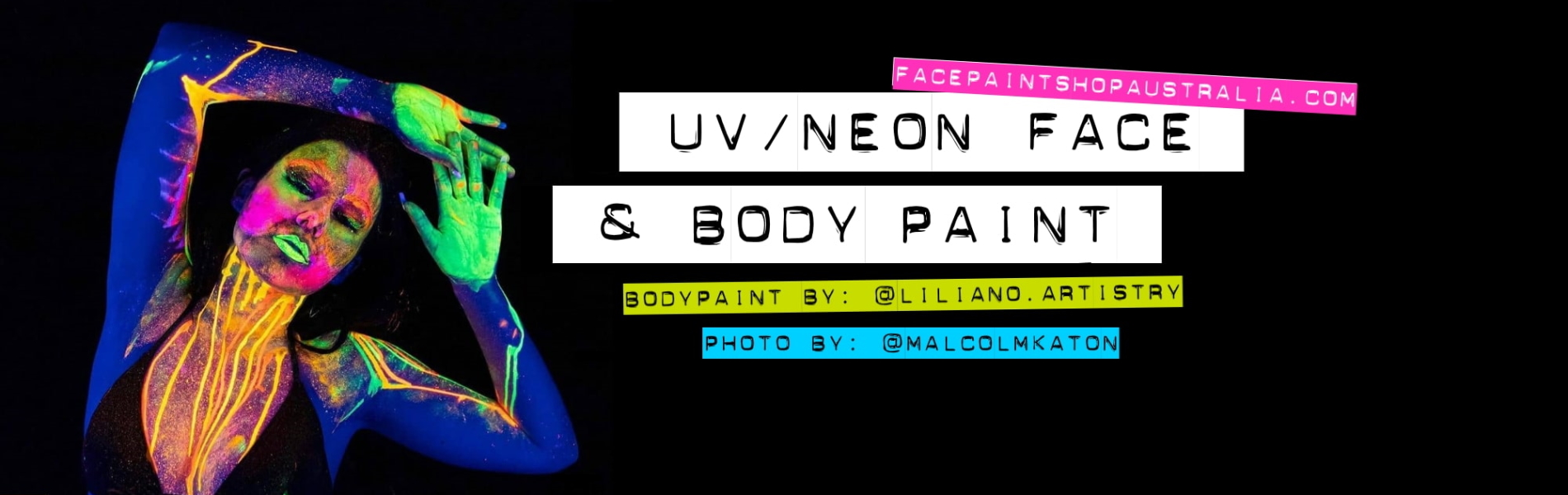 face body paint uv neon glow in the dark
