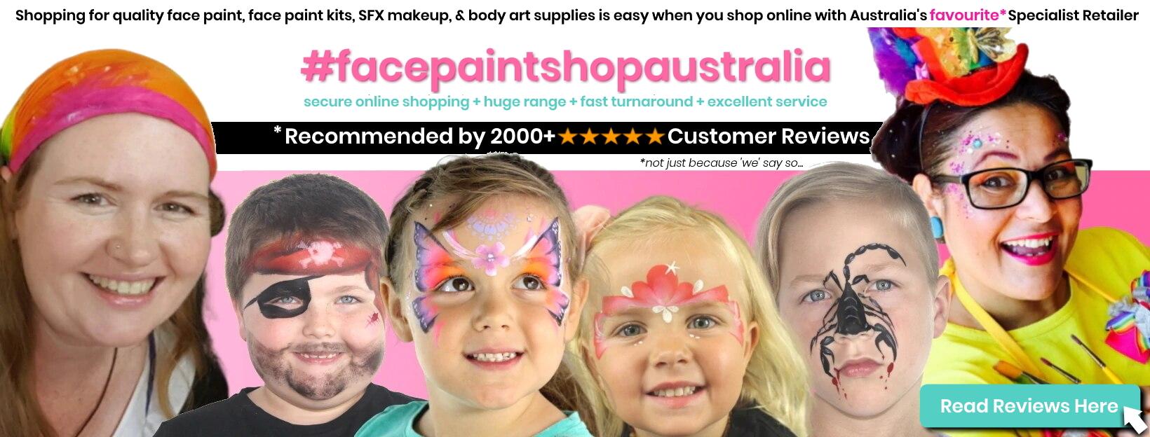 face paint shop australia home page customer reviews
