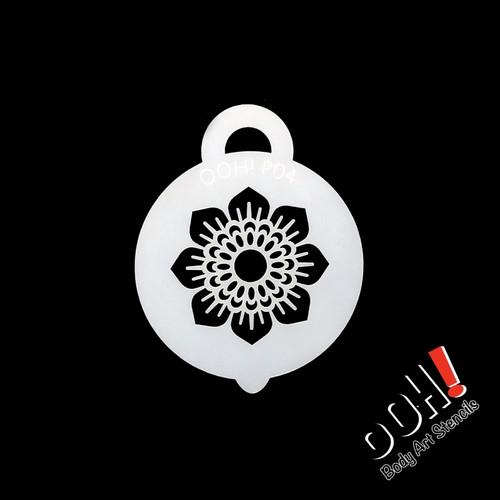 Henna Sunflower Petite Stencil By Ooh Stencils P04 Face Paint Shop Australia