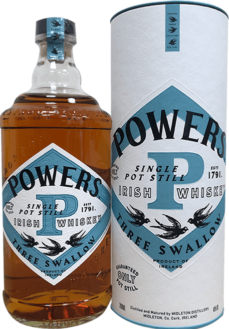 Powers Three Swallow Release (Single Pot Still)