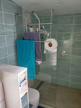 Jane T Review - over-shower-screen towel rail