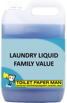 Toilet Paper Man - Laundry Liquid - Family Value - 5 Litre - Buy your chemicals online